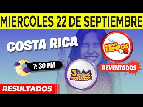 Sorteo 7:30PM Nuevos Tiempos y 3 Monazos del Miércoles 22 de septiembre del 2021