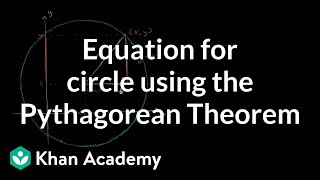 Equation for a circle using the Pythagorean Theorem