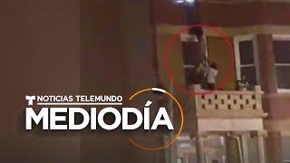Así fue el dramático rescate de varios residentes del incendio de un edificio   Noticias Telemundo
