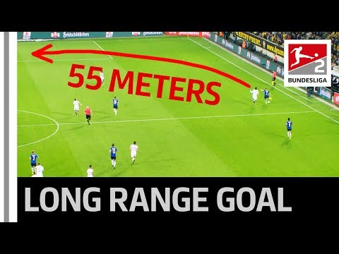 Long-Range Goal from Half Pitch - Bet You Can't Do This at Home