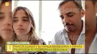 Tras pasar la cuarentena Marcos Llunas ya pudo regresar a España