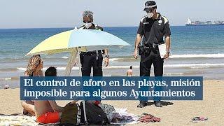 Controlar las playas por el coronavirus, misión imposible para algunos Ayuntamientos