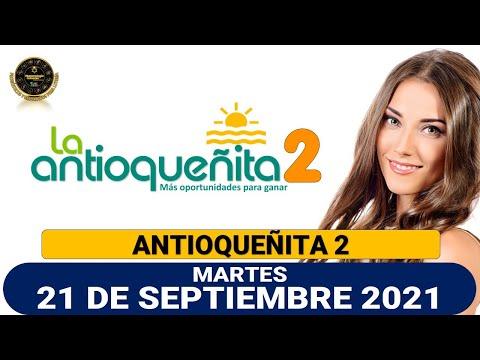 Resultados del Chance ANTIOQUEÑITA 2 del martes 21 de septiembre de 2021