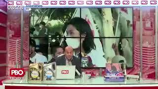 """ELECCIONES - Pedro Castillo cuestiona a los medios que lo """"terruquean"""" y Keiko Fujimori lo fustiga"""