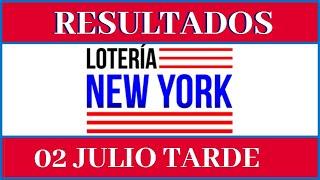 Resultados de la Loteria New York Tarde de hoy 02 de Julio del 2020