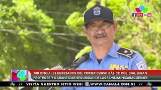 708 oficiales egresados del primer curso básico policial, juran garantizar la seguridad del pueblo