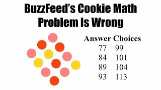 BuzzFeed's Cookie Math Problem Is Wrong