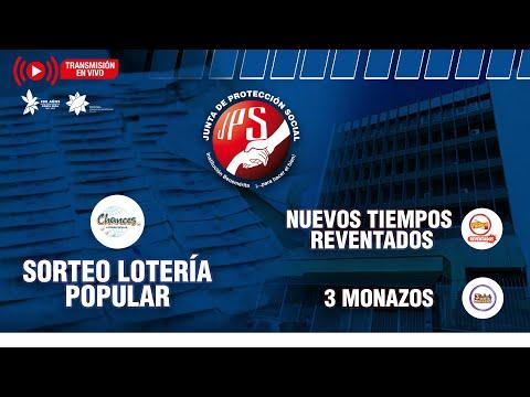 Sorteo Lot. Popular N°6619, Nuevos Tiempos Reventados N°18874 y 3 Monazos N°1300 del 12-10-21 JPS