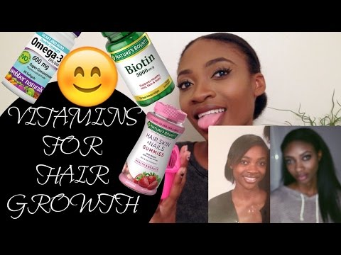 VITAMINS FOR FAST NATURAL HAIR GROWTH   HOW TO GROW NATURAL 4A 4B 4C HAIR