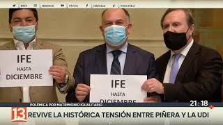 El matrimonio igualitario revive la histórica tensión entre Piñera y la UDI