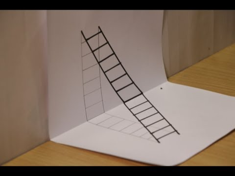 How to Draw 3D ladder With Pencil - Step by Step