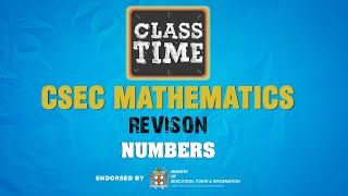 Number - CSEC Mathematics Revision  - January 12 2021
