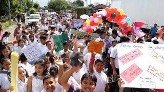 Familias realizan carnaval promoviendo una vida sin drogas en Managua