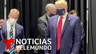 Trump recorre una fábrica de ensamblaje Ford utilizando una mascarilla | Noticias Telemundo