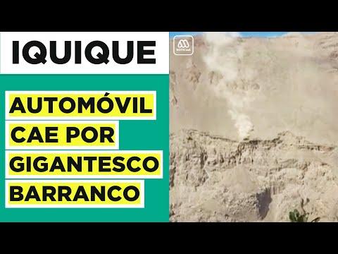 Impactante registro: Auto cae por gigantesco barranco de Iquique