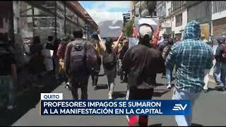 Marcha contra recorte presupuestario a la educación se registró en Quito