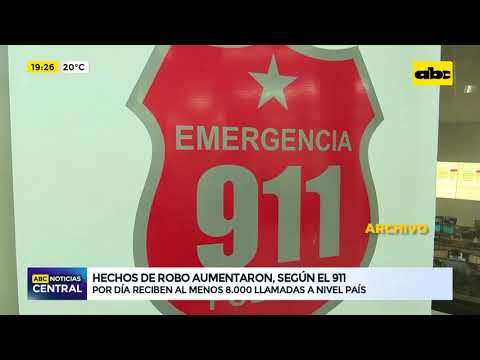 Hechos de robo aumentaron, según el 911
