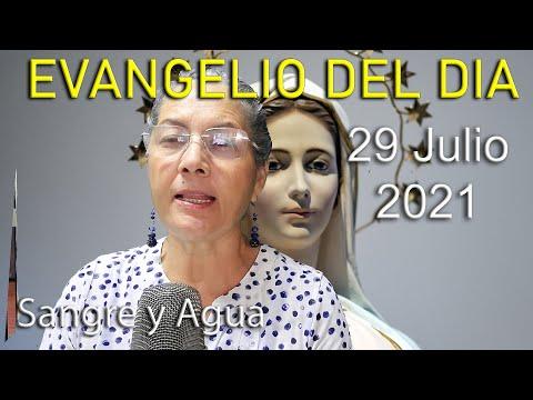Evangelio Del Dia de Hoy - Jueves 29 Julio 2021- Sangre y Agua