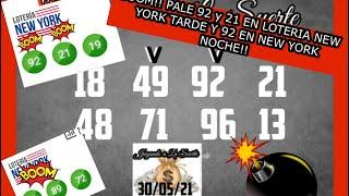 BOOM!! BOOM!! PALE 92 y 21 EN LA LOTERIA NEW YORK TARDE Y 92 ENE NEW YORK NOCHE!!????????????