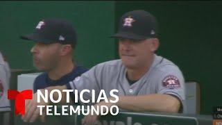 Suspenden al dirigente y gerente de Los Astros de Houston por robo de señales   Noticias Telemundo