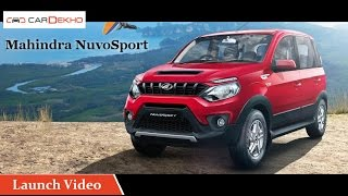 Mahindra NuvoSport | Launch Video | CarDekho.com