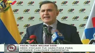 Fiscal General: Ministerio Público dispondrá 1.104 funcionarios que trabajarán en elecciones del 6-D