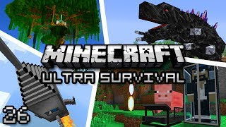 Minecraft: Ultra Modded Survival Ep. 26 - THE GIANT MAHOGANY TREE