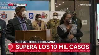 Cochabamba sobrepasa los 10 mil casos de coronavirus tras registrar 216 casos