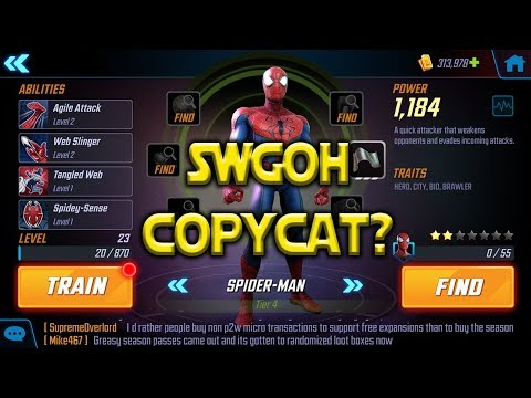 SWGoH Copycat? | Marvel: Strike Force - Coming iOS Android 2018