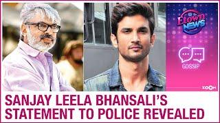 Sanjay Leela Bhansali DENIES dropping Sushant and accepted offering Ram Leela & Bajirao Mastani - ZOOMDEKHO