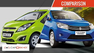 Chevrolet Beat Vs Maruti Suzuki Celerio Diesel | Comparison Video | CarDekho.com