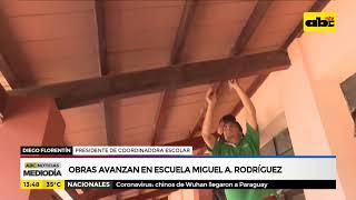 Obras avanzan en escuela Miguel A  Rodriguez