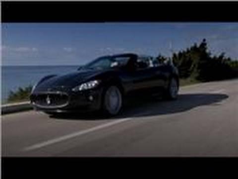 2010 Maserati GranCabrio roars on road