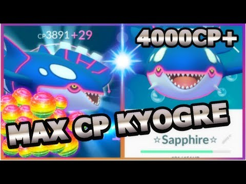 connectYoutube - KYOGRE MAX CP IN POKEMON GO   KYOGRE NEW BEST WATER POKEMON