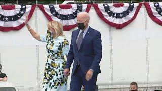 President Biden spends day in Georgia to mark 100 days in office