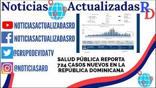 Salud Pública reporta  724 casos nuevos en el boletín 203 se la República Dominicana