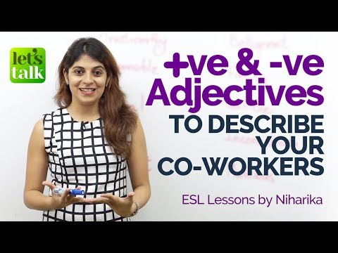 Adjectives to describe your colleagues – Business English Vocabulary