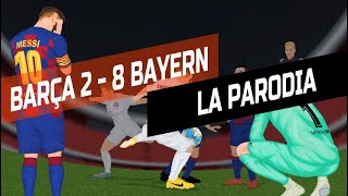Barcelona 2 vs. Bayern Munich 8: la parodia animada de uno de los partidos más increíbles