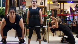 Actress Pragathi MIND BLOCKING Stamina   Pragathi Gym Workouts   TFPC - TFPC
