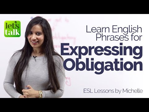 connectYoutube - Expressing Obligation – New English Phrases & Expressions – Free English lessons online