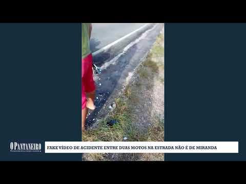 Fake Vídeo de acidente entre duas motos na estrada não é de Miranda