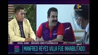 ¿Por qué inhabilitaron a Manfred Reyes Villa