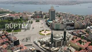 Drone captures Istanbul;s iconic landmarks deserted amid coronavirus pandemic
