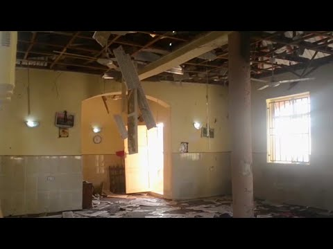 Aftermath of mosque bombing in Nigeria