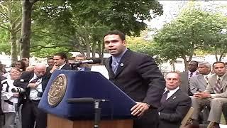 Mayor Bloomberg introduces Joel  Rivera at Saint James Park  video by Jose Rivera  2004