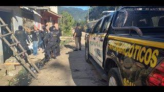 Realizan operativos antinarcóticos en Guatemala, Escuintla y Jutiapa