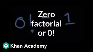 Zero factorial or  0!