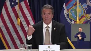 New York Governor Cuomo gives his daily COVID-19 update after a weekend of protests