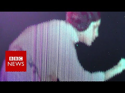 The 3D projections that float in the air - BBC News