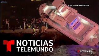 Así fue el dramático rescate en un bote accidentado en Florida   Noticias Telemundo